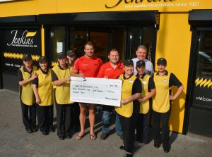 Jenkins Bakery helps raise £3,100 for Cancer Research UK