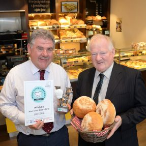 Pictured from left are IREKS UK National Sales manager Lee Pugh and Jenkins bakery Director Russell Jenkins